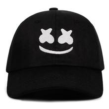 Doctom-casquette de Baseball 100% coton   Chapeau de papa brodé, casquette américaine DJ Chris Comstock unisexe, chapeaux de relance Dotcom Alone face Smiley