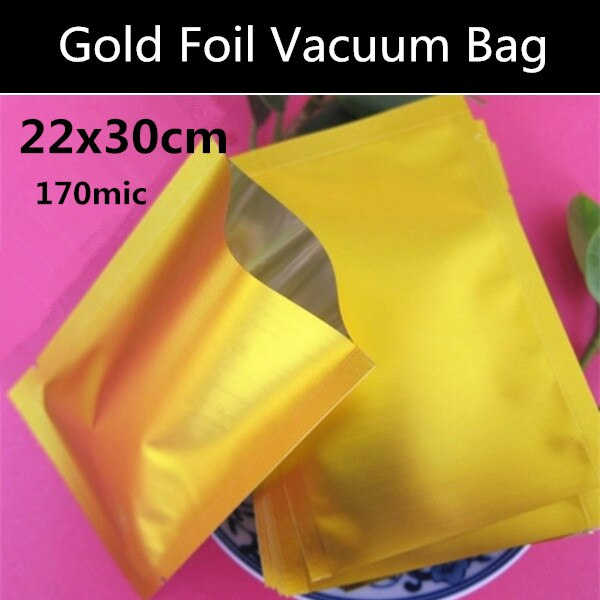 100pcs 22x30cm (8.7'' * 11.8'') 160mic aluminium foil bag heat seal packing food bag/ vacuum plastic pouch