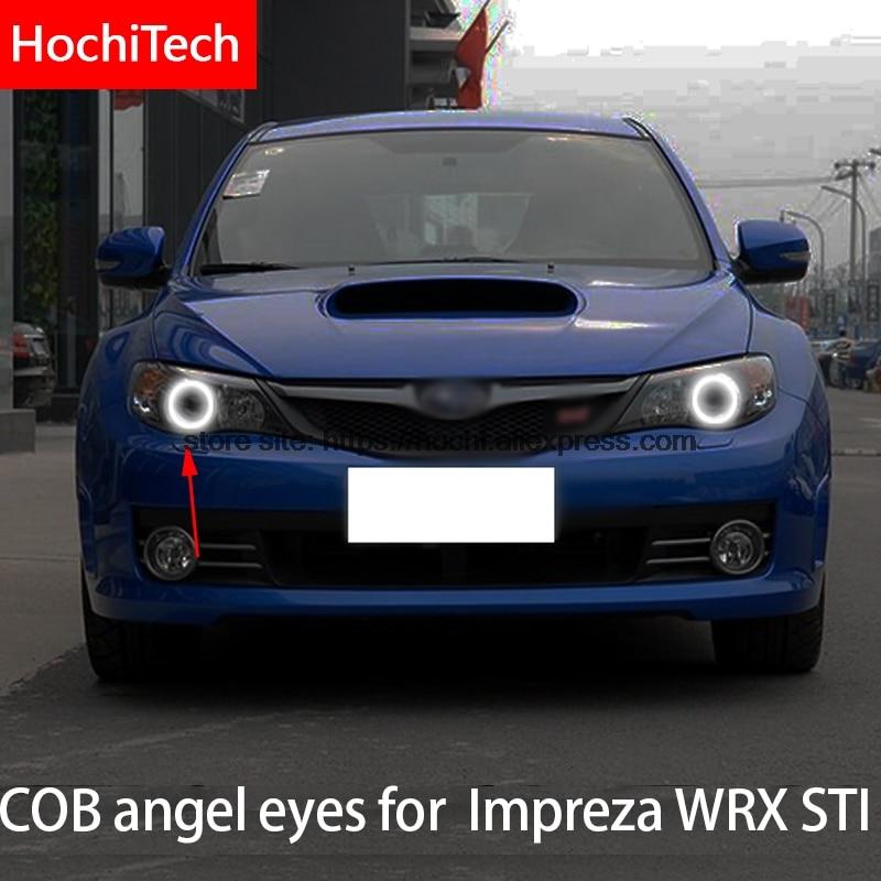 Para Subaru Impreza WRX STI 2007 2008 2009 2010 2011 COB Led luz de día blanco Halo Cob Led Ojos de Ángel anillo de Error libre Ultra brillante