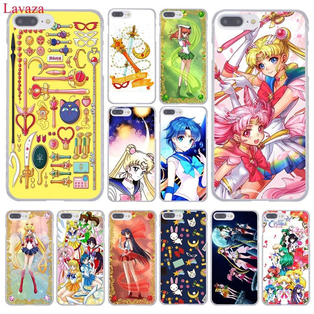 Lavazza Sailor Mercury żołnierz Sailor Moon twardy futerał na telefon do iPhone XR XS X 11 Pro Max 10 7 8 6 6S 5 5S SE 4S 4 pokrywa
