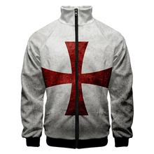 Men's Knights Crusader JACKET Templar Armor Hoodies Jacket Crusader Cross Medieval COAT Costume