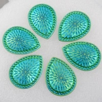 boliao diy 4pcs 3040mm 1 18in1 57in phoenix tail shape green rhinestone flat back glue on home holiday decoration
