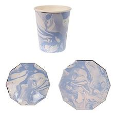 Vaisselle jetable à motif de Halo bleu   Roman, assiettes en papier, tasses pour réception-cadeaux pour bébé, noël fête danniversaire