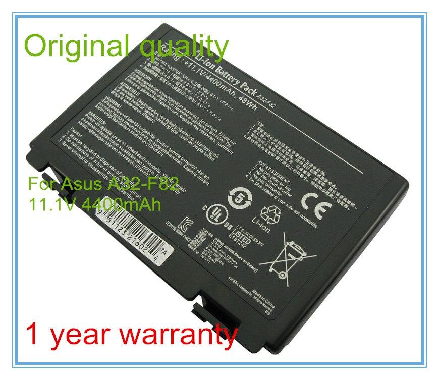 11,1 V 4400mAh portátil Original batería A32-F82 para F82 F83S K40 K40E...