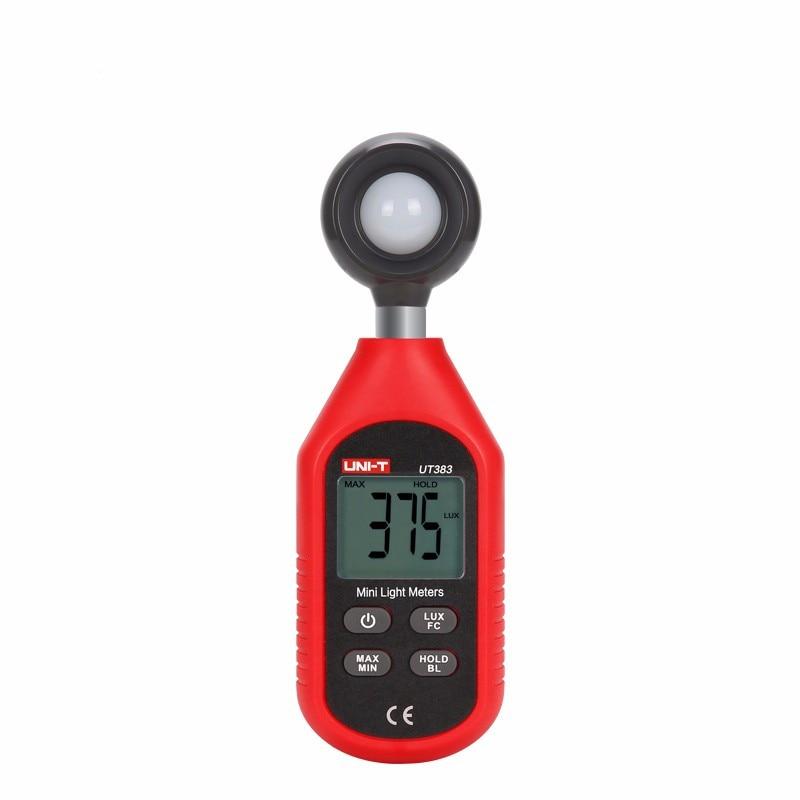 Новый UNI-T UT383, фотометр, мини цифровой измеритель освещенности, экологическое оборудование для тестирования