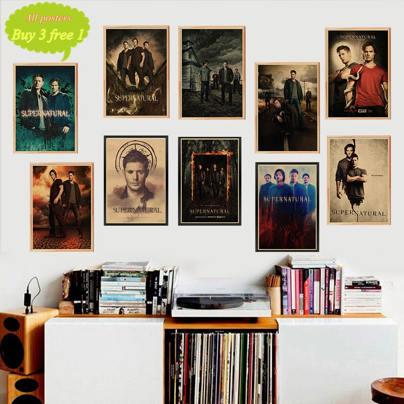 Papel tapiz retro sobrenatural de estilo kraft, póster, Bar de pared, arte para la casa, decoración, centro de pintura