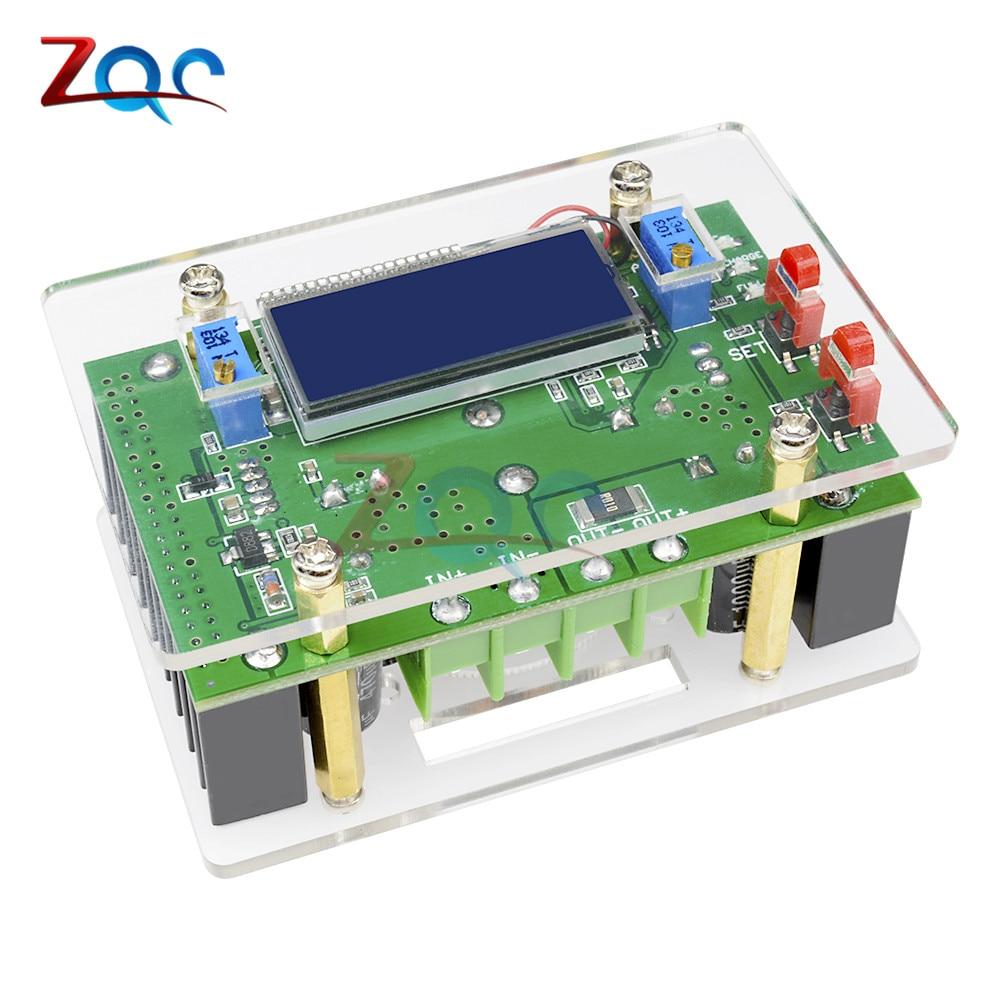 10A DC-DC Регулируемый CC CV Повышающий Модуль питания LCD двойной дисплей + Корпус dc-dc повышающий преобразователь