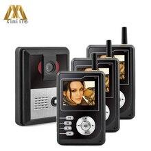 Drie Gezinnen Video Deurtelefoon Draadloze Video Deurtelefoon Met Night Versie Camera Goede Kwaliteit En Goedkope Prijs 3422P