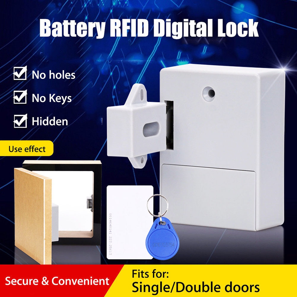 Bateria rfid armário gaveta bloqueio diy digital portátil keyless durável sem furo perfurado para o navio da gota
