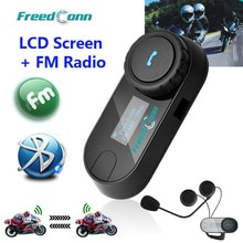 ¡Envío Gratis! TCOM-SC W/pantalla Bluetooth motocicleta casco intercomunicador con Radio FM
