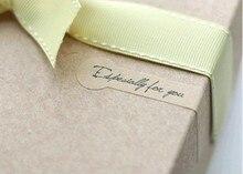 Étiquettes en papier Kraft pour scellage   Étiquette cadeau de 200 pièces/autocollants denveloppe, spécialement pour toi, coller1lot = 5 feuilles = 100 pièces