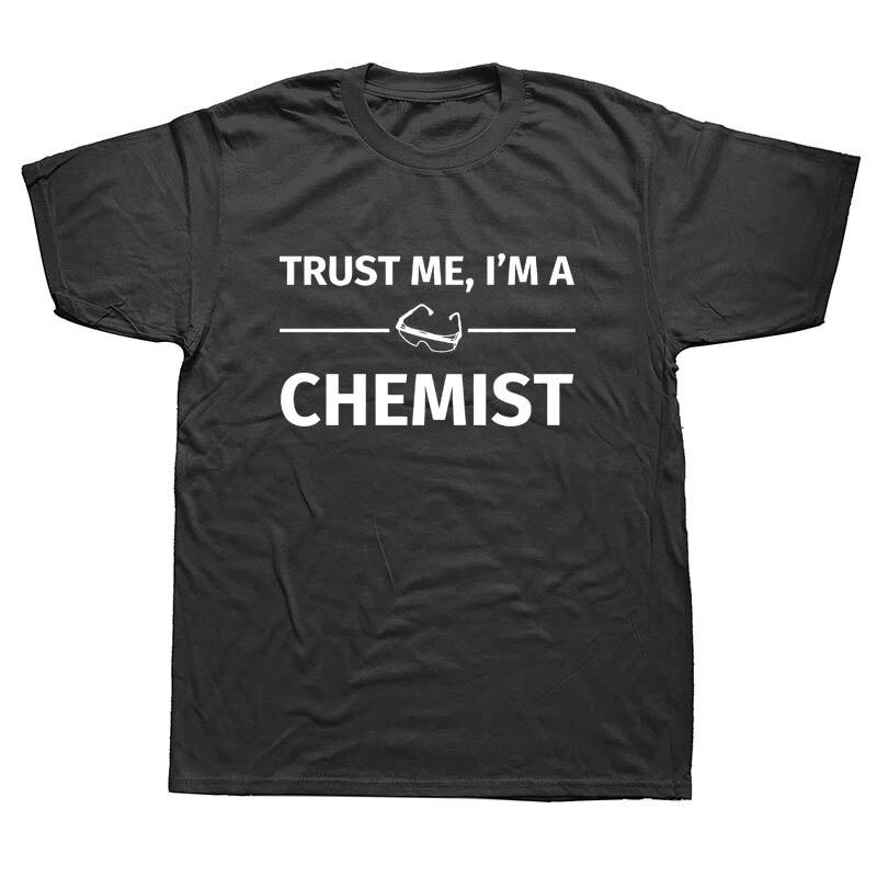 Estilo de verano Trust Me Im A Chemist camiseta divertida química ciencia camiseta hombres pantalón corto Casual manga camisetas