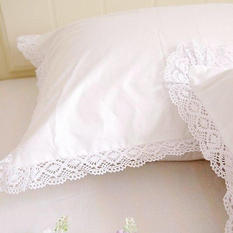 Kissen Sham Europäischen Stil Stickerei Spitze Kissenbezug Luxus Kuchen Schichten Kissenbezüge Prinzessin Bogen Süße Kissen Abdeckung