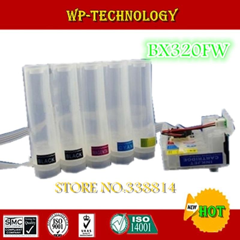 [Vazio] terno CISS para T1291/T1291, T1292 T1293 T1294, terno para Epson Stylus BX320FW, com fichas de auto de reset