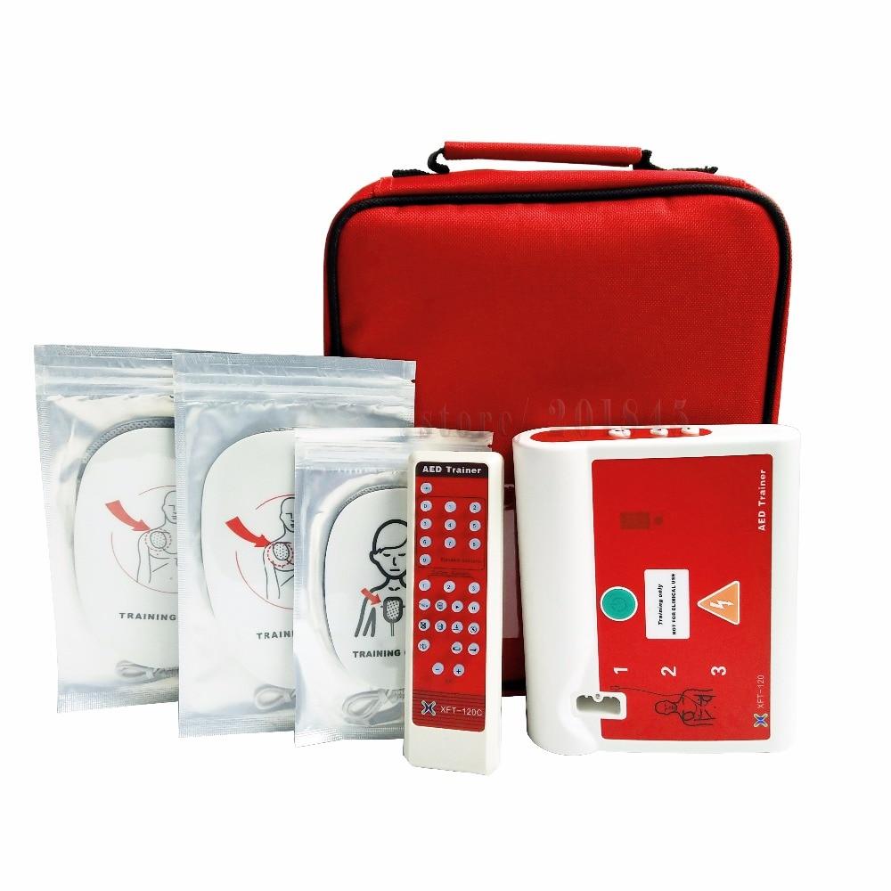 Entrenador externo automático de Hospital aprobado por la CE/dispositivo de entrenamiento de simulación de primeros auxilios con Pad en inglés y húngaro