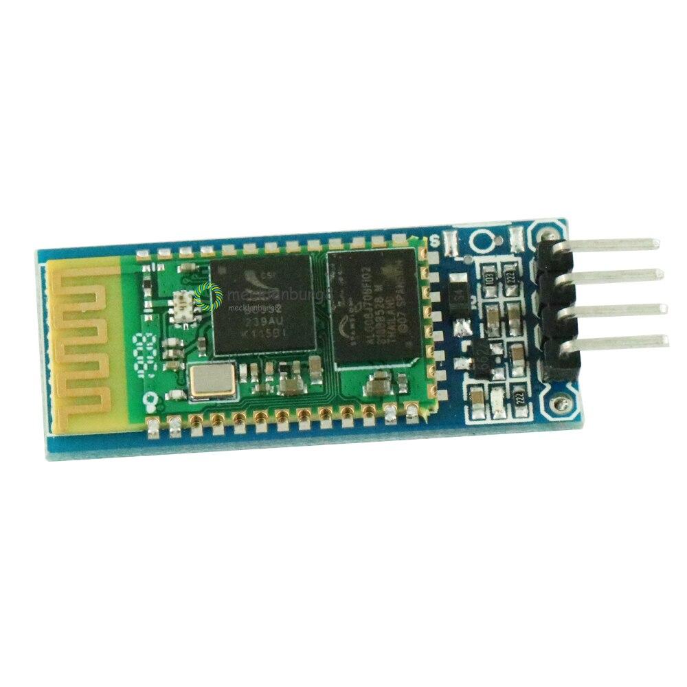 10 unids/lote HC-06 módulo esclavo inalámbrico de comunicación Bluetooth HC06 3,3 V 4 pines para Arduino HC 06