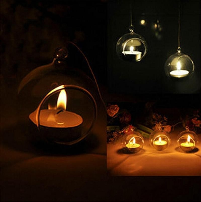 Candelero de cristal, jardinera de aire, terrario, decoración del hogar, candelabro colgante, candelabro romántico, jarrón creativo, candelabro de boda