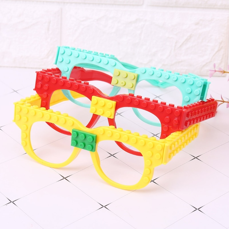 Nuevos bloques de gafas placa Base DIY juguete Marco de gafas Compatible con ladrillo para bloques de plástico cuadrado lego