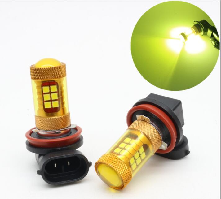2 uds, Amarillo/blanco, 9005 HB3 9006 HB4 H8 H11, bombillas antiniebla LED para coche, lámparas de repuesto, luces diurnas de conducción automática, 6000K 3000K