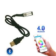 10 Pcs/Lot DC5-24V Mini USB Bluetooth RGB LED contrôleur de lumière de bande avec haut-parleur musique minuterie secouer couleur/lumineux ajuster la fonction