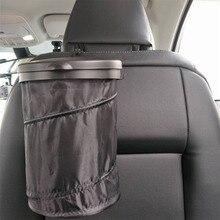 Sac de rangement   Poubelle de voiture, boîtes pliantes, porte-poussière, étuis de déchets, organisateur de voiture, sac de rangement siège conteneur de déchets, intérieur de voiture