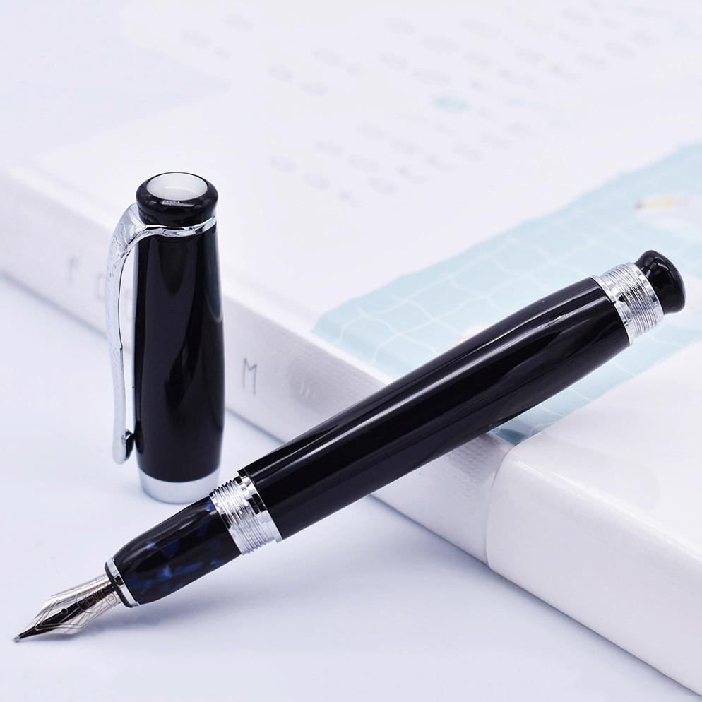 Duke Tutor pluma estilográfica clásica, barril negro y Perla blanca en la parte superior, Ideal para negocios Oficina hogar o regalo