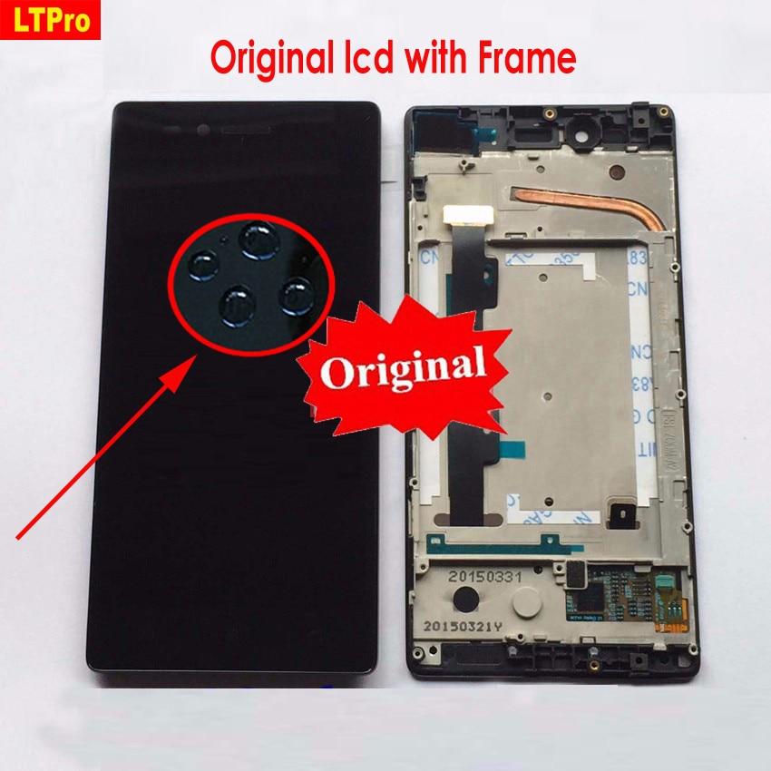 Ltpro display lcd touch screen digitador assembléia painel de vidro com moldura para lenovo vibe shot max z90 z90a40 z90-7 z90-3 z90-a
