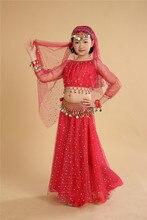 Costume de danse du ventre pour enfants   Ensemble complet, robe de danse indienne pour filles, vêtements de danse du ventre 6 pièces, robe de danse orientale 89, nouveau modèle