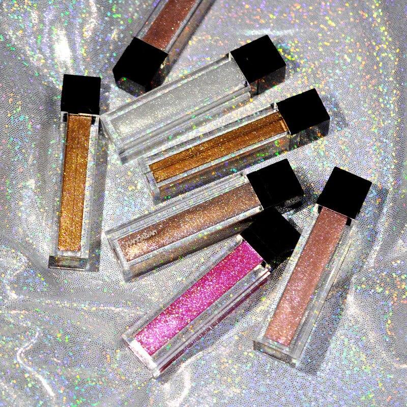 Glitter Glanz Lip Gloss Satin Lip Farben Matt Flüssigen Lippenstift Set Wasserdichte Lipgloss Farbton Nude Pigment Frauen Schönheit Kosmetik