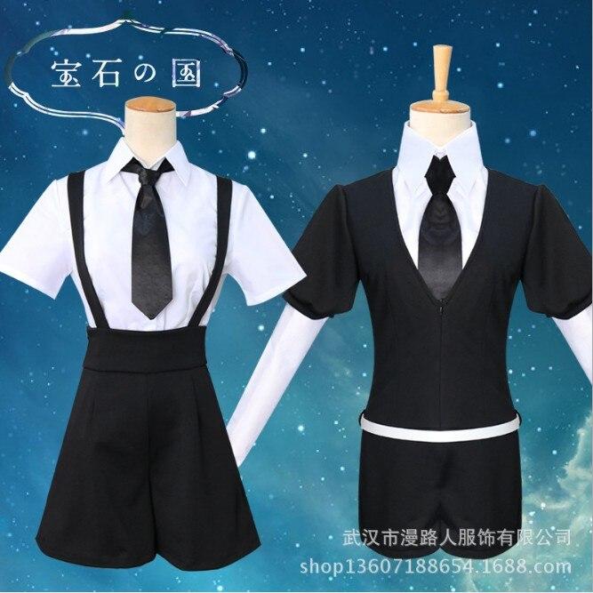 Alta calidad Anime Houseki no Kuni disfraces fosphophyllite Diamond Bort bodysuit Cosplay disfraces accesorios monos