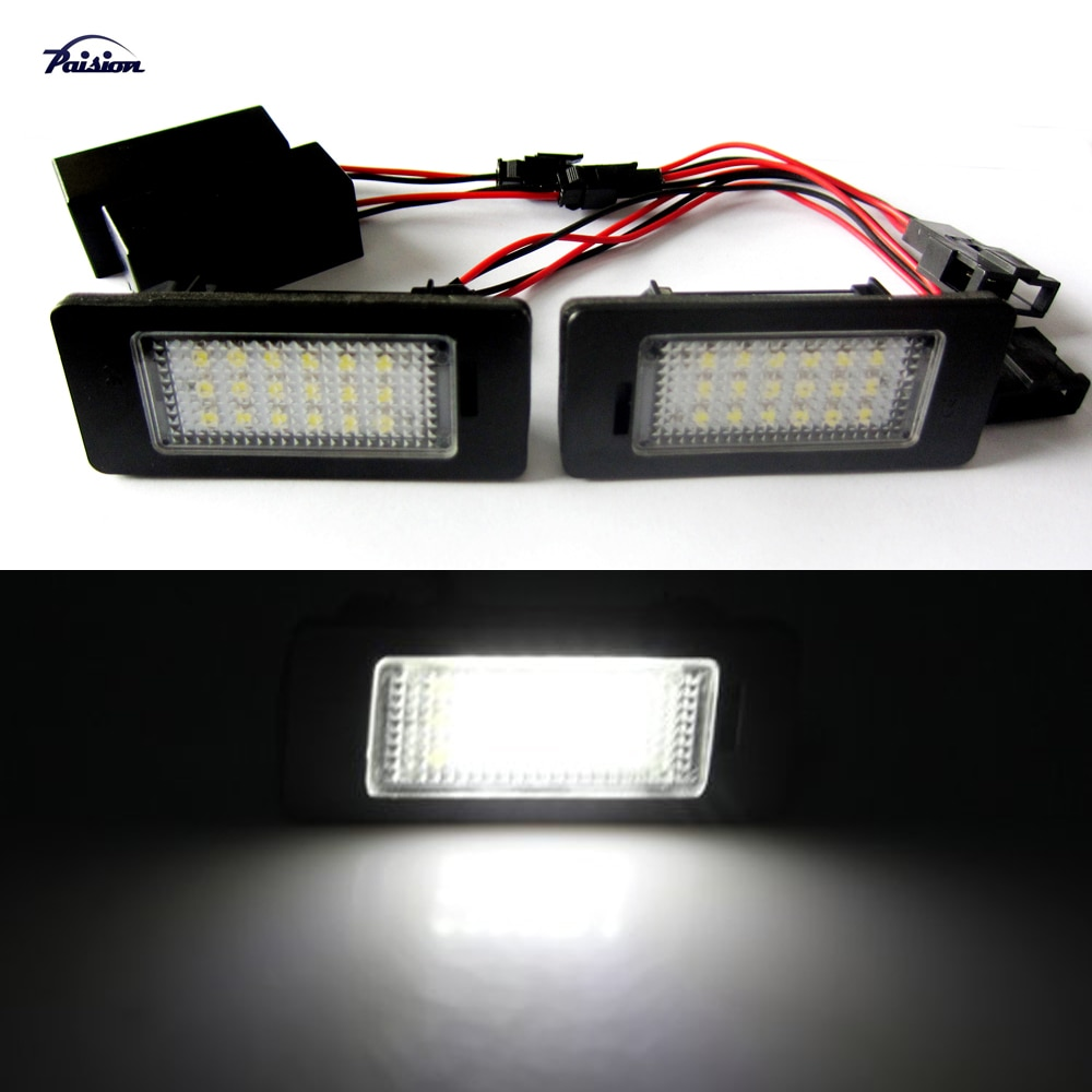 2 piezas libre de Error número de LED placa de la lámpara luz para Audi AUDI Q5... a4 4D/5D (B8) S5 S4... A5 TT RS Volkswagen VW PASSAT 5D R36