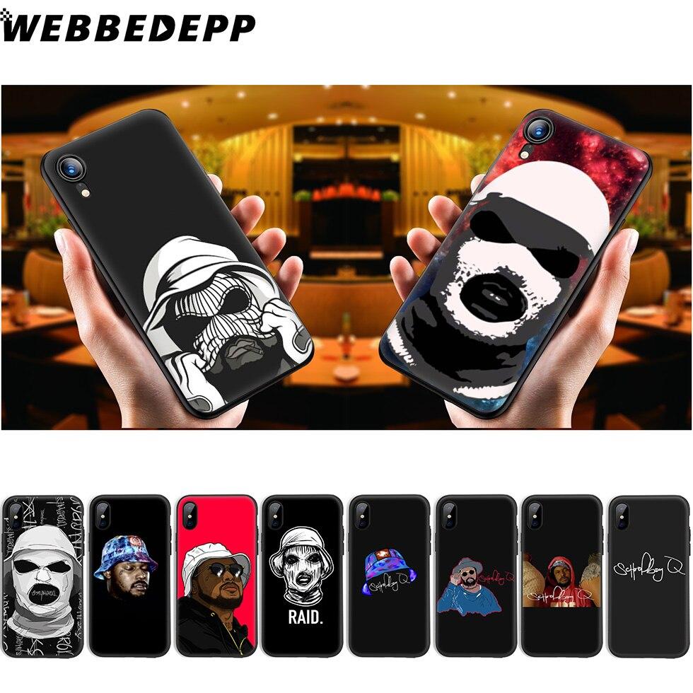 Estudante WEBBEDEPP Q Soft Case de Silicone para iPhone 11 Pro Xr Xs Max X ou 10 8 7 6 6S Plus 5 5S SI Caso 8 Plus