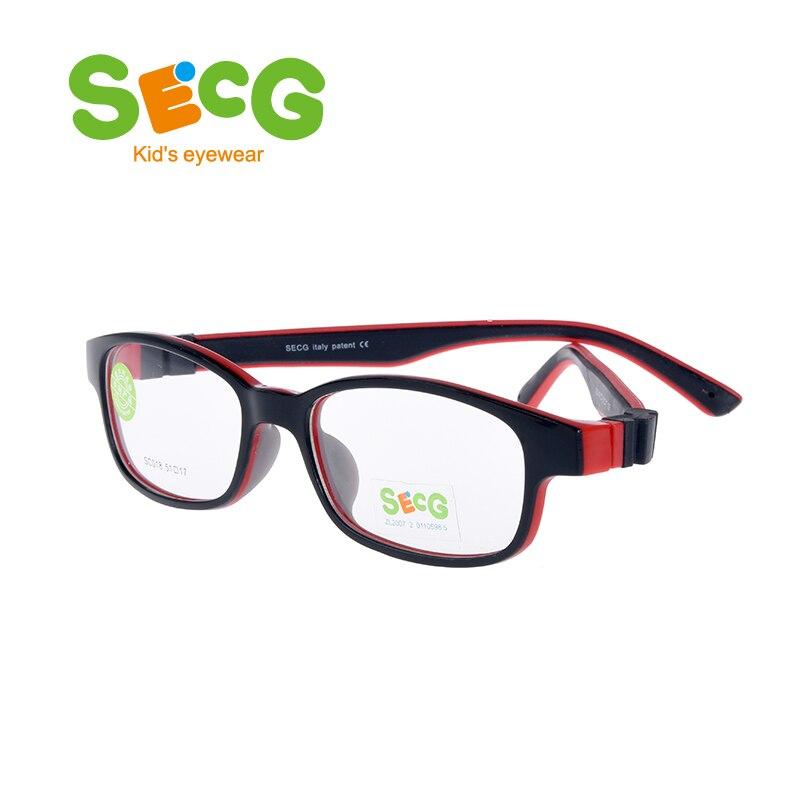 SECG חמוד ילדי אופטי משקפיים מסגרת רך Ultralight ילדי מסגרת משקפיים בני בנות אופטי רוחק קוצר ראיה רצועת מרשם