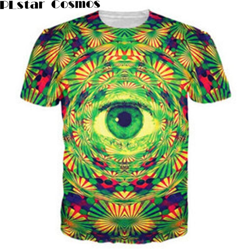 Футболка Psychedelic Eye PLstar Cosmos, яркая футболка с рисунком «trippy» и принтом «all-See eye» для мужчин и женщин, 3D одежда