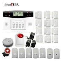 SmartYIBA systeme dalarme GSM residentiel   Securite  avec capteur de fumee  Flash sirene alerte SMS  Auto cadran GPRS alarme anti-cambrioleur
