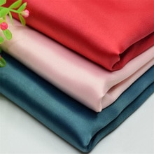 Tissu en Satin mat élastique   Tissu extensible en Polyester pour robe