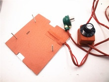 Funssor 120 V/220 V 250 W silicone heater + aluminium bodemplaat + glas verwarmde bed upgrade kit voor Flashforge finder 3D printer