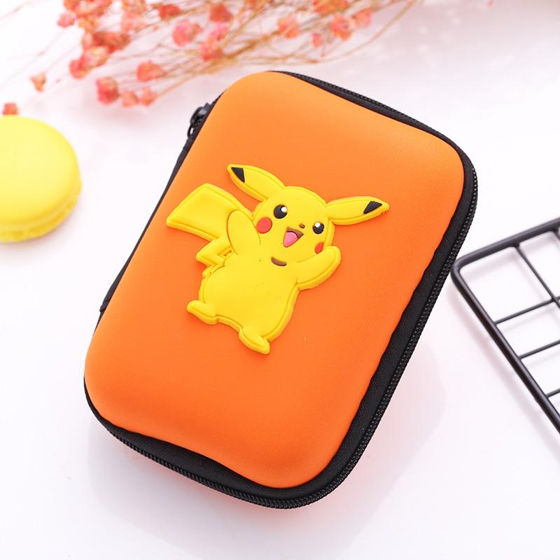 Кошелек для монет из силикона ЭВА с героями мультфильмов каваи, держатель для наушников в японском аниме «Pokemon Pikachu», зарядное устройство, сумки для хранения, подарки, бумажники