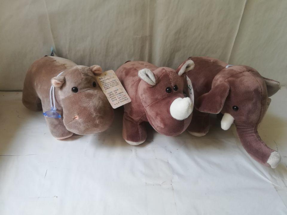 cute cartoon gray elephant,rhinoceros,hippo plush toy about 25cm soft doll kid's toy birthday gift b1547
