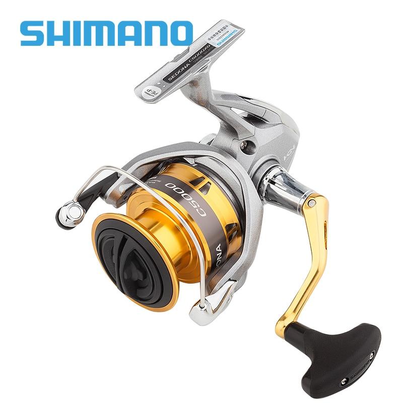 SHIMANO SEDONA FI-بكرة صيد دوارة ، كوب عميق 500/1000/C2000S/2500/C3000/4000/6000/8000 ، لصيد الأسماك ، المياه المالحة