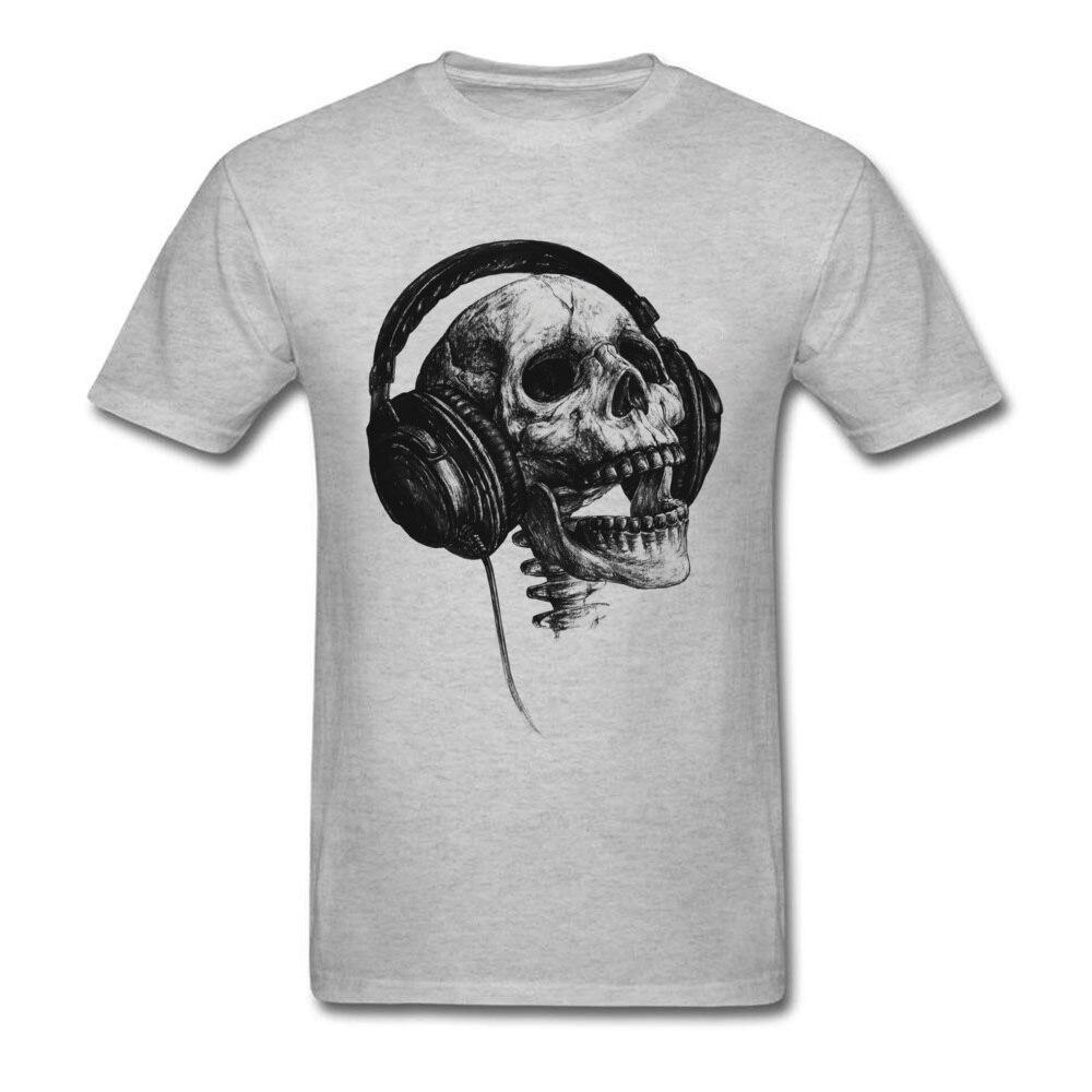 Big Discount Men's DJ Skull Band T-Shirt Rap Music Forever O Neck Tshirts Lovers Day Punk Heavy Metal Sing T Shirt Tops Shirts