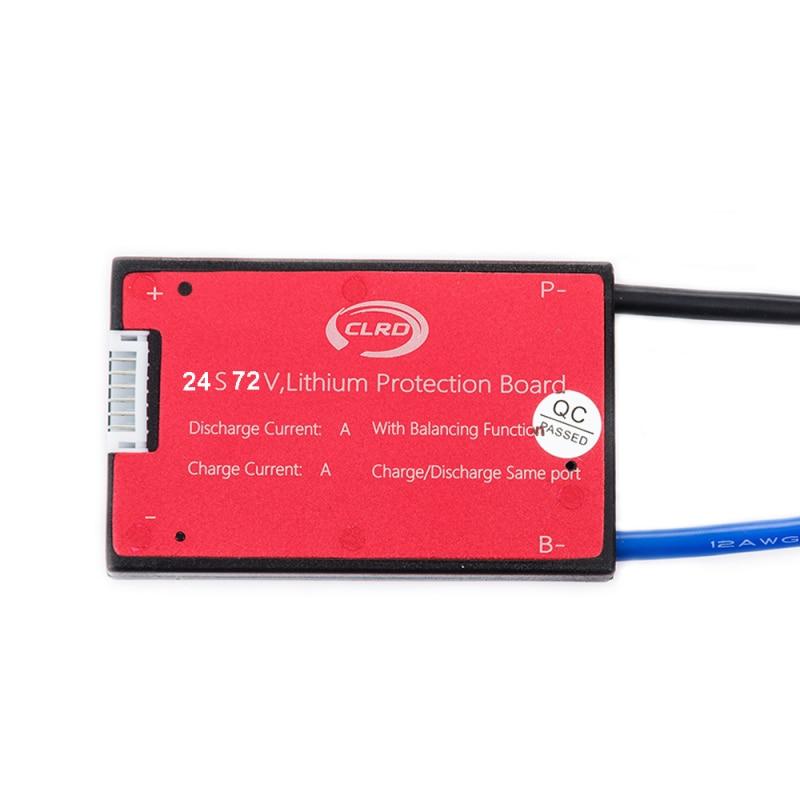 24S 72V 30A 40A BMS batería Sistema de Gestión de PCM PCB para 18650 Paquete de batería de litio con el equilibrio