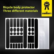 Mountainbike Schützen Kette Aufkleber Straßen Falten Fahrrad Rahmen Gabel Schutzhülle Film Anti-scratch Leder Aufkleber