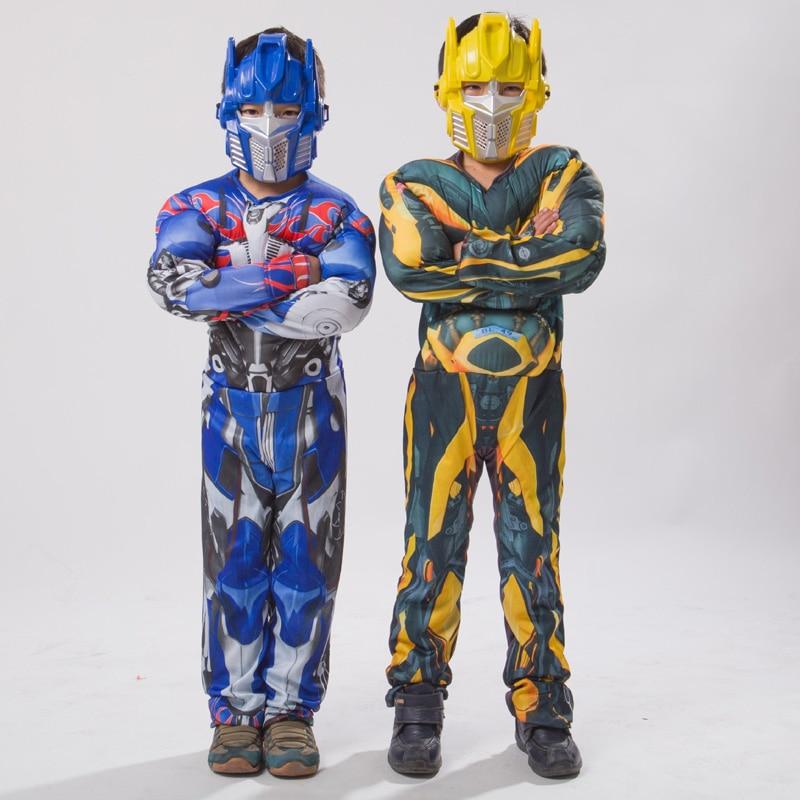 Boys Optimus Muscle Prime Fancy Dress American Boy Superhero Purim Halloween Book Week Spider Child Captain Costume