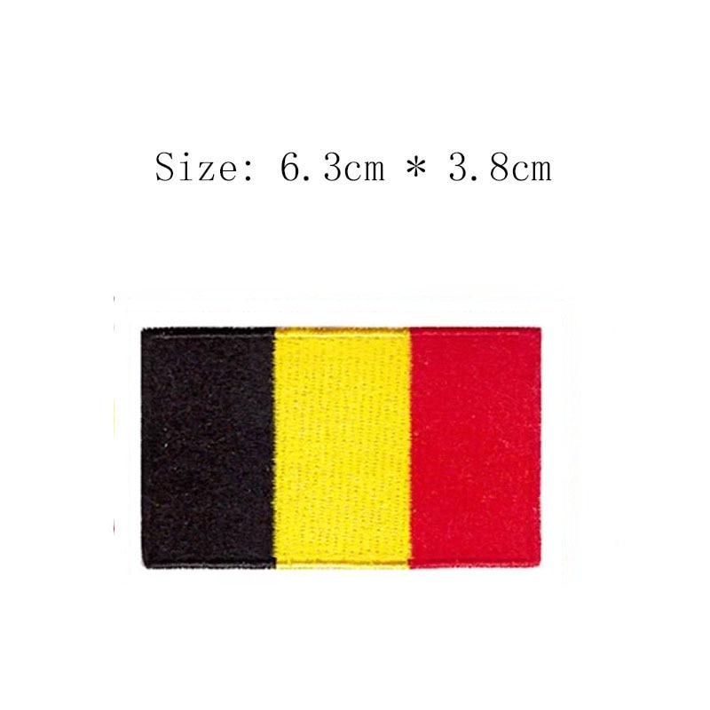 Широкие накладки с вышивкой в виде флага, 2,5 дюйма, оптовая продажа, Бесплатная доставка