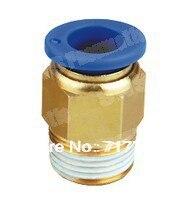 8mm to1/8 conectores neumáticos macho recto/accesorios de un solo toque/piezas pnematic BSPT SNS/acoplador rápido/Ajuste de compresión de aire