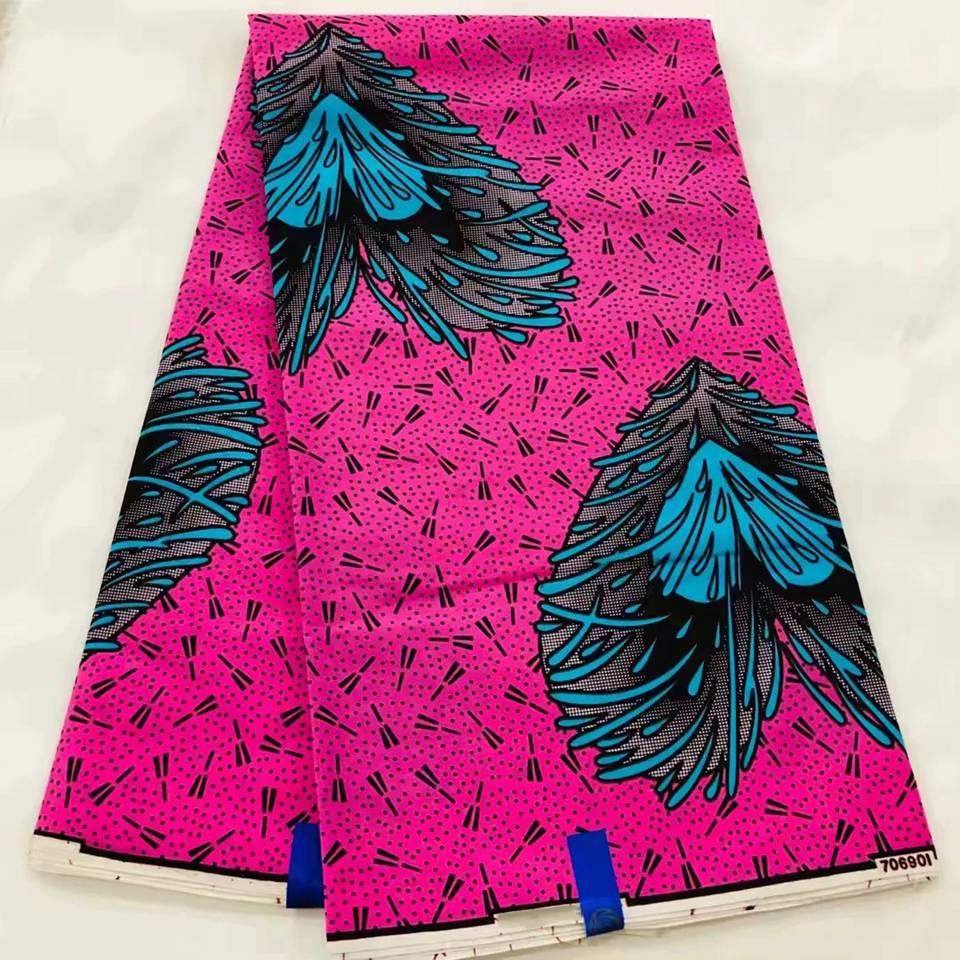 Tela estampada de cera Mitex tela azul Kente, tela de cera de algodón africano para vestido africano LSW-24