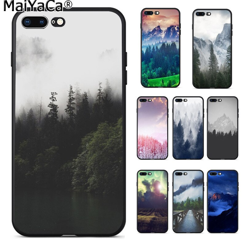 MaiYaCa patrón de Nube de bosque colorido lindo teléfono accesorios caso para Apple iPhone 8 7 6 6S Plus X XS MAX 5 5S SE XR teléfonos móviles