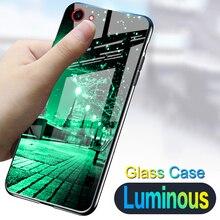 Starry night Shine luxury Case For BBK Vivo V9 Y85 / Y83 Y83A Y81 Tempered glass Luminous silicone cover For Vivo Y91 Y95 Y97