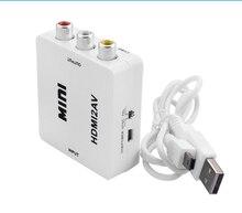 1080P HDMI to AV HDMI to RCA AV2HDMI Mini HDMI to AV Converte Signal Converter for TV,VHS VCR,DVD Records Chipsets Shown HDMI2AV